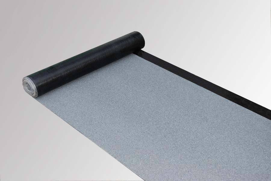 Bitumen Dachbahn der Firma Bauder zur Illustration der Flachdachabdichtung auf der Website der Spenglerei Voth